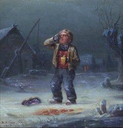 Hermann Werner (1816-1905), Gemälde 1853, Der zerbrochene Krug, D2018