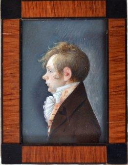 Halbportrait eines jungen Mannes wohl aus Calvörde 1, D0007