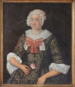 Landsberg (Warthe), Frauenportrait Frau Altmann um 1750, D0004-1
