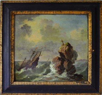Riff mit Seemannsgrab um 1750, D0175-1