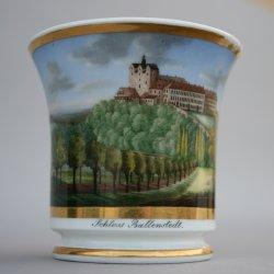 Ballenstedt, Schloss, Tasse Althaldensleben um 1830, D0826